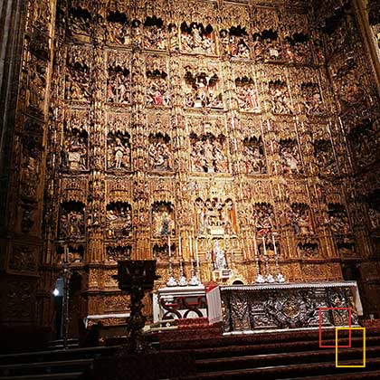 retablo y altar mayor de la Catedral